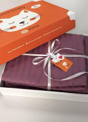 Семейный комплект постельного белья с простыней на резинке. сатин. сімейний комплект.