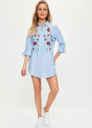 Стильная рубашка-платье с вышивкой2