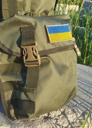 Рюкзак туристический , походный , олива , пиксель , чёрный