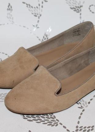 Кожаные туфли лоферы pier one 42 размер 27 см стелька