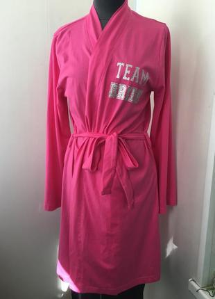 Яркий тёплый коттоновый халат, домашний халат, коттон