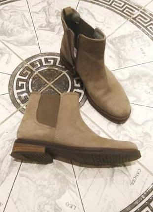 Челси ботинки демисезонные pier one кожа-нубук
