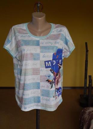 Блуза стильна на розмір 58-60 miss poem