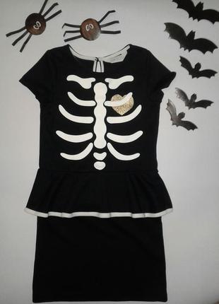 Хэллоуин платье h&m р 6-8 лет