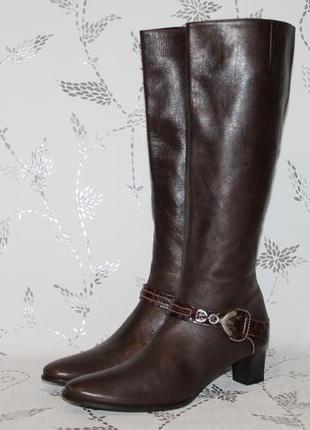 Шикарные кожаные дизайнерские сапоги konstantin starke 38 размер 25,5 см стелька