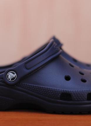 Синие шлепанцы, сабо, сандалии crocs, кроксы. 38 - 39 размер. оригинал