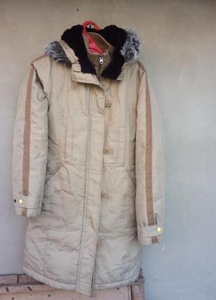 Очень теплая зимняя куртка парка женская red label