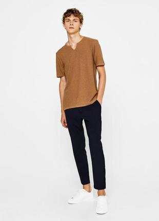 Стильные, молодежные, укороченные  мужские брюки bershka