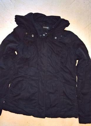 Куртка черная повседневная на флизке..