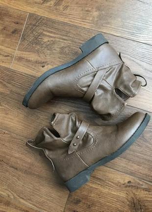 Стильные сапоги осень, демисезонные сапожки, ботинки bongo 37-38р.