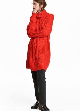 Платье-свитер  шерсть от h&m премиум! все размеры! последняя коллекция!