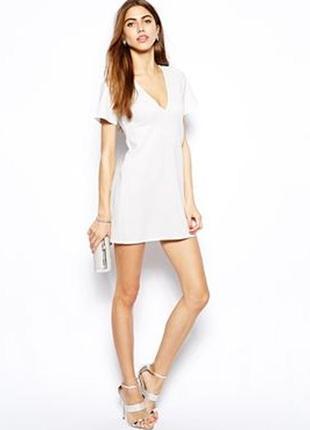 Неопреновое платье с v -образным вырезом oh my love,р-р xs