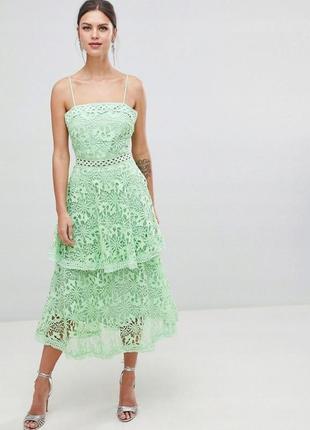 True decadence надзвичайна ажурна зелена сукня
