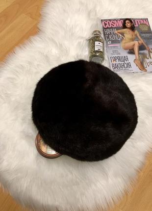 Норковая шапка норка натуральный мех меховая шапка