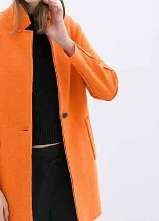 Zara пальто з вмістом шерсті, xs-s