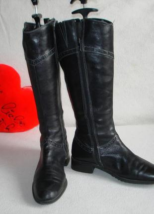 Сапоги кожаные утепленные бренд marco tozzi
