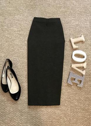 Актуальная плотная юбка по фигуре m&s в составе вискоза