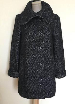 Доступно - твидовое пальто *h&m* 6/36 р. - 73% шерсть!!
