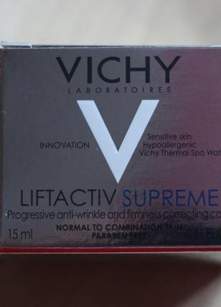 Vichy liftactiv supreme крем против морщин и для упругости кожи 15ml
