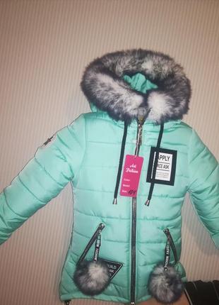 Парка пуховик куртка зима девочка