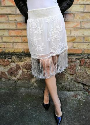 Ralph lauren юбка с бахромой