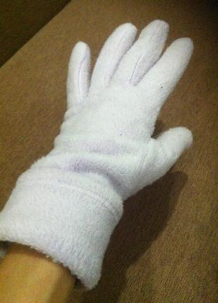 Мягкие тёплые  флисовые перчатки