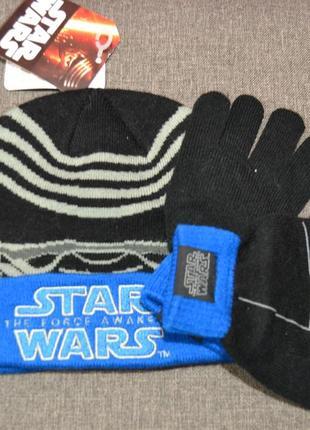 Комплект шапка+перчатки mothercare на мальчика 1-3 года