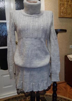 Платье молодежное теплое , туника супер, разм. 44-46