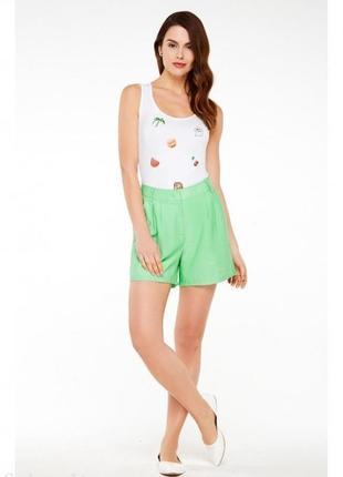 Свободные шорты, цвет светло-зеленый