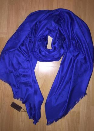 Шарф/платок/палантин из кашемира синий