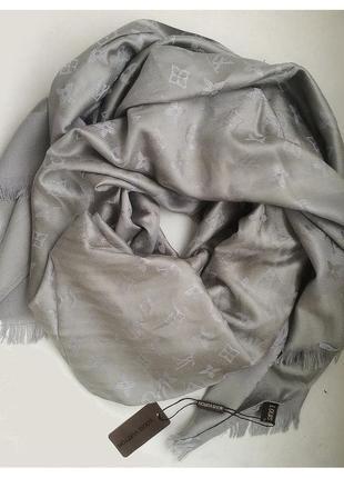 Шарф/платок/палантин из кашемира  серый