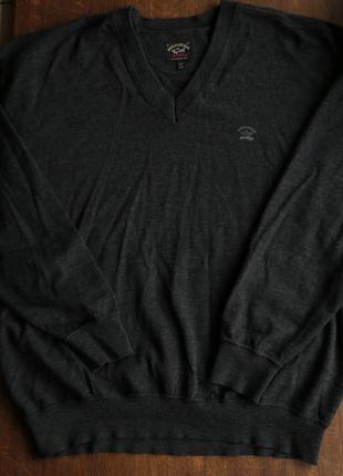 Мужской шерстяной итальянский свитер paul&shark