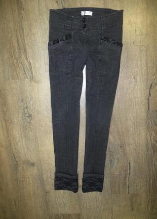Очень красивые джинсы с кружевом!!!реально на бёдра до 92!!!