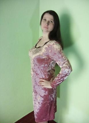Гарні сукні з довгими рукавами світло-рожевого кольору