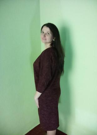 Теплі вільні сукні до колін