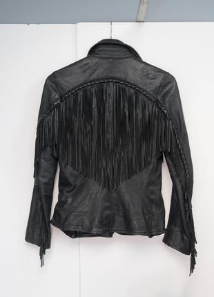 All saints spitalfields anny jacket новая куртка 8 англия кожа fringe