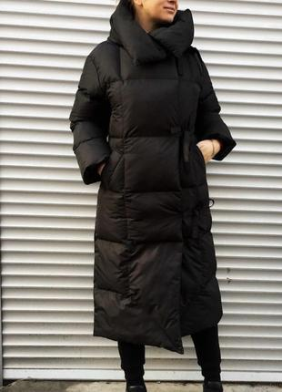 Пуховик-одеяло / очень тёплый/ стильный / состояние идеальное