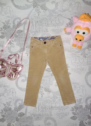 Вельветовые джинсы скинни для девочки 2.5-3 года хлопок next