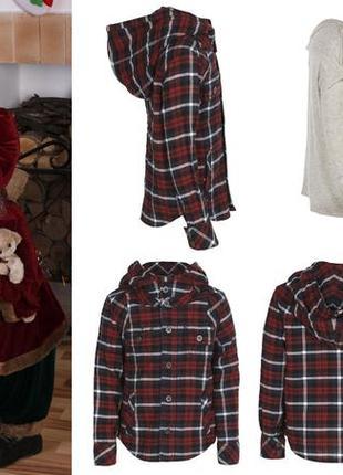 All saints spitalfields винтажная детская рубашка 6 лет клетка худи с капюшоном