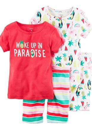 Пижама для девочки на 4 года картерс (набор 2шт.)