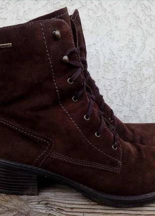 Легкие ботинки legero с gore-tex замша австрия ботильоны женские
