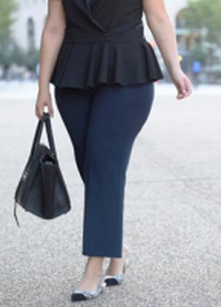 Трендовые штаны в полоску с завышенной талией для королевы