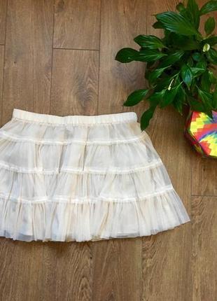 Короткая шифоновая юбочка
