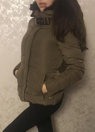 Стильная зимняя куртка zara размер с