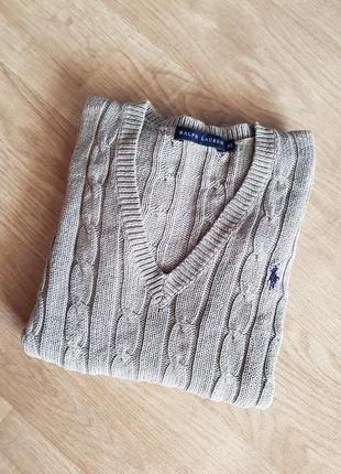 Оригинальный свитер косичка