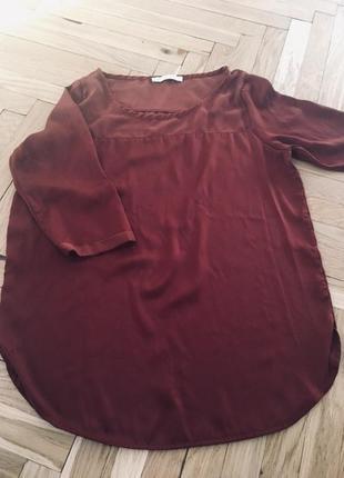 Легкая терракотовая блуза блузка