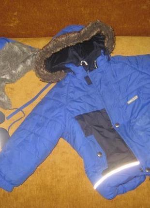 Зимний комбинезон краги и шапка lenne рост 92 см