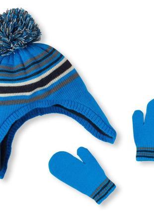 Комплект шапка + рукавицы с флисовым подкладом, размер 2-5 лет