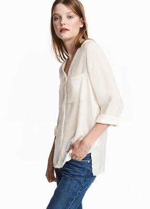 Блузка с треугольным вырезом h&m 36 457434