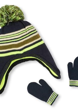Комплект шапка+ рукавички, размер 2-5 лет